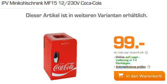 cooler coca cola minik hlschrank ipv mf15 f r 99 euro. Black Bedroom Furniture Sets. Home Design Ideas