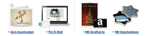 Amazon Geschenkgutschein zum Drucken