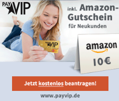 payvip kostenlose kreditkarte mit amazon gutschein. Black Bedroom Furniture Sets. Home Design Ideas