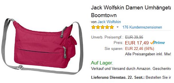 Jack Wolfskin Tasche Boomtown Sehr Gunstig Spaaaren De