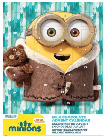 Minions Adventskalender mit Schokolade