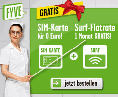 FYVE Simkarte mit Surfflatrate fast kostenlos
