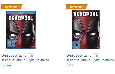 Deadpool auf Blu-ray & DVD günstig bei Amazon bestellen