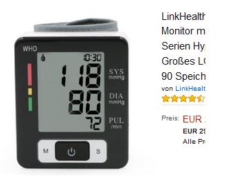 Blutdruckmessgerät für Handgelenk: 24,99 Euro » spaaaren.de