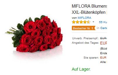 20 rote rosen billig bei amazon bestellen dealblog schn ppchen gutschein spartipps. Black Bedroom Furniture Sets. Home Design Ideas