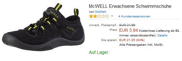 Mcwell Schwimmschuhe F R Erwachsene Billig Dealblog
