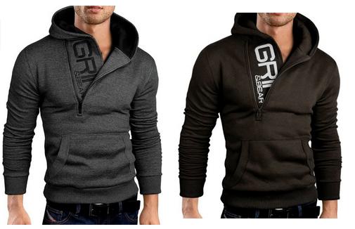 grin bear hoody sweatshirt f r m nner bei amazon. Black Bedroom Furniture Sets. Home Design Ideas