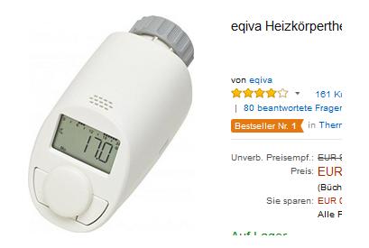 9 79 Heizk Rperthermostate Billig Bei Amazon Von Eqiva
