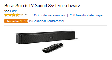bose solo 5 soundsystem f r fernseher 192 44 euro dealblog schn ppchen gutschein spartipps. Black Bedroom Furniture Sets. Home Design Ideas