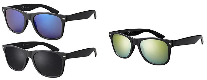 verspiegelte Wayfarer Sonnenbrillen von La Optica