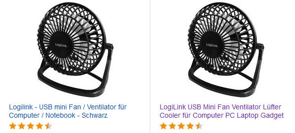 Mini-Ventilator mit USB-Anschluss von LogiLink