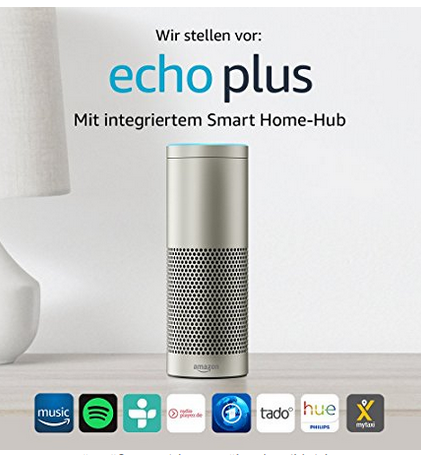 echo plus mit integriertem smart home hub und philips hue. Black Bedroom Furniture Sets. Home Design Ideas