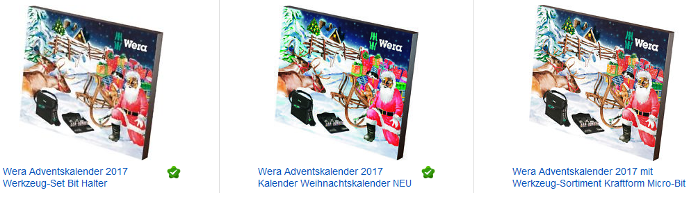 wera adventskalender mit werkzeug jetzt bei ebay. Black Bedroom Furniture Sets. Home Design Ideas