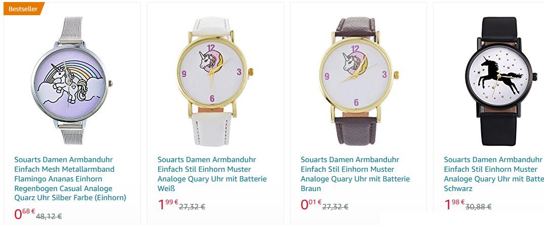 Souarts Armbanduhr Einhorn
