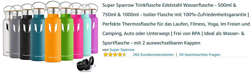 super sparrow trinkflaschen cool gut n tzlich billig. Black Bedroom Furniture Sets. Home Design Ideas