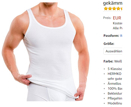 Hermko 3000 5 Tank Tops Unterhemden Billig Dealblog