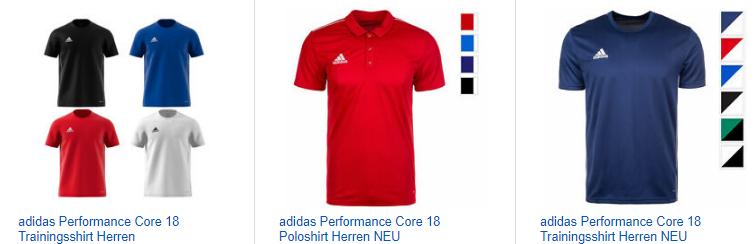 ebay.de-Screenshot zu adidas Performance Core 18